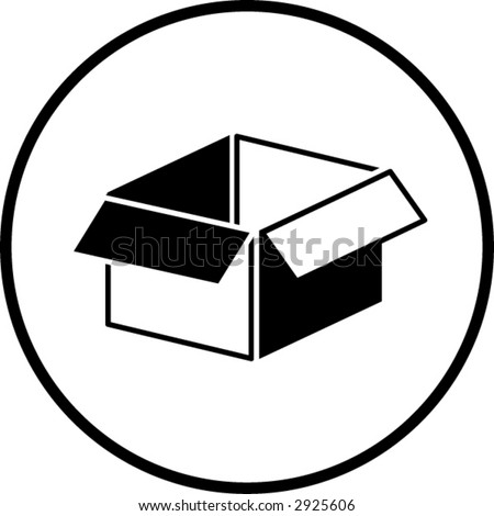 Open Box Symbol Stock Vector Royalty Free 2925606 Shutterstock