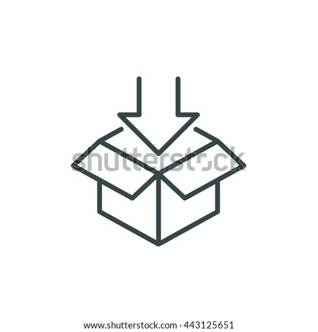 Open Box Symbol Symbol Packaging Download Stock Vector Royalty Free