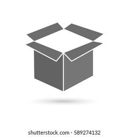open box, vector illustration. Flat design style
