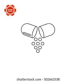 Open Capsule Pill Icon