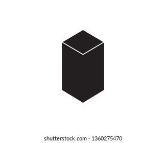 Open cardboard box icon illustration design