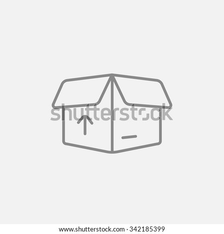Open Carton Package Box Arrow Line Stock Vector (Royalty Free