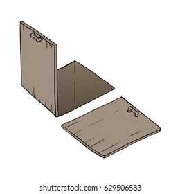 open and close trapdoor illustration