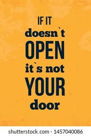 Open door Design template. Possibility concept poster. Banner template.