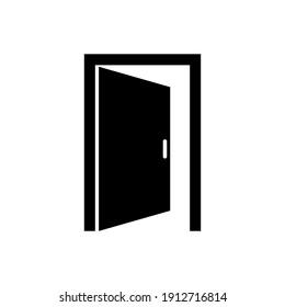 open door icon vector eps 10