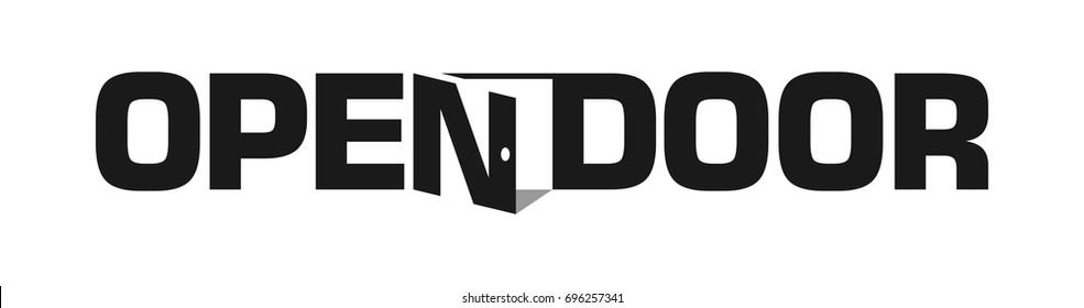 open door logotype. vector logo.