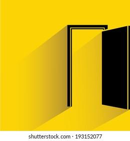 open door, opportunity concept, goal, target