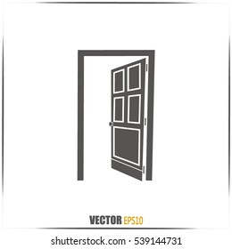 open door vector icon