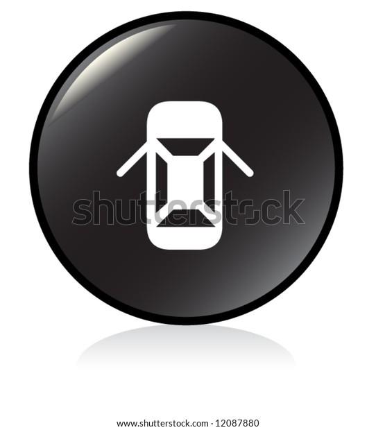 open doors car warning sign - BLACK version