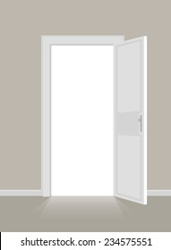 Open doors. EPS10.