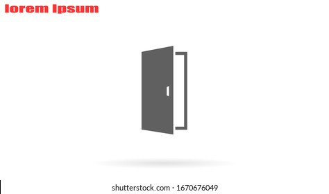Open double door outline icon. linear style sign for mobile concept and web design. Exit doorway simple line vector icon. Push door symbol, logo illustration. Pixel perfect vector graphics