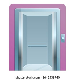 Open elevator icon. Cartoon of open elevator vector icon for web design isolated on white background