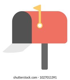 Open empty mailbox, correspondence concept