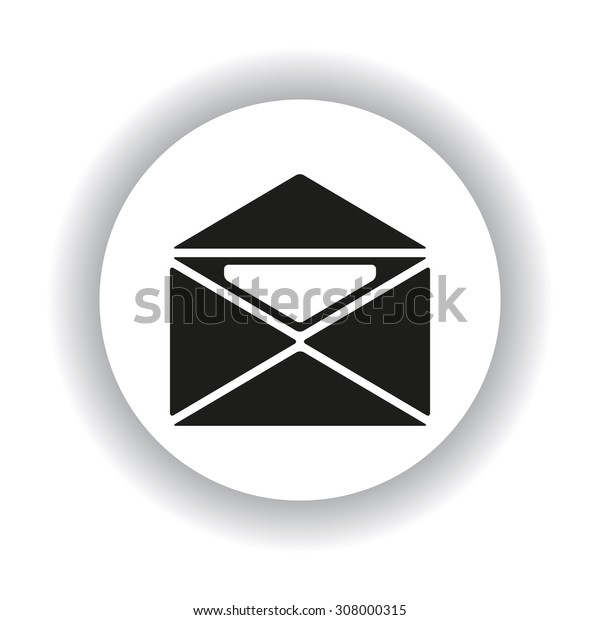 open envelope with a letter. icon. vector design