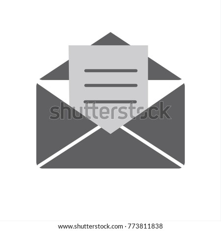 open envelope with letter inside vector icon