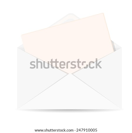 Open Envelope Letter Vector Icon Eps Stock Vector 247910005