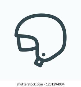 Open face helmet icon, motorcycle open face helmet vector icon