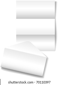 Open folded letter envelope as a stationery paper background