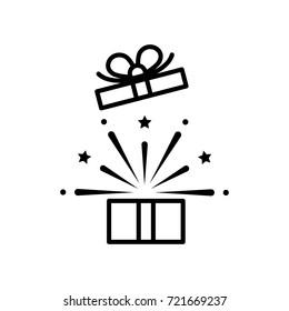open gift box, icon vector