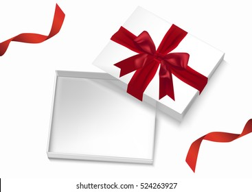 Open gift box vector design.