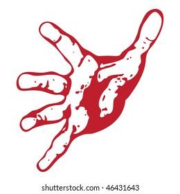Open hand abstract vector