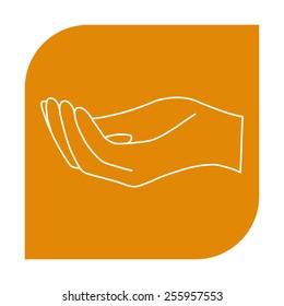 Open hand icon