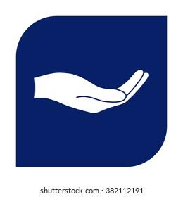 Open hand icon.