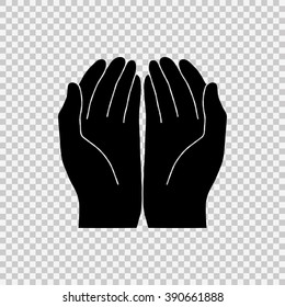 Open hands icon.