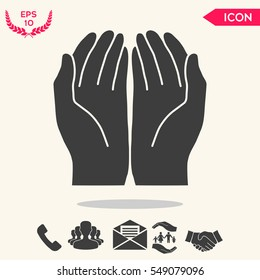 Open hands icon