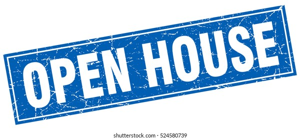 open house. stamp. square grunge isolated open house sign