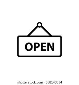 Open Icon Vector Illustration