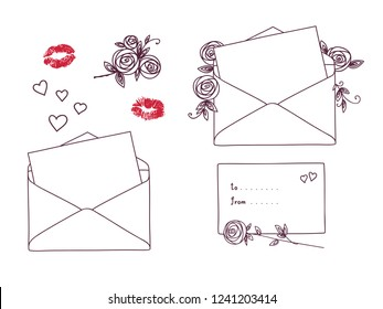 open letter kisses roses hearts 260nw
