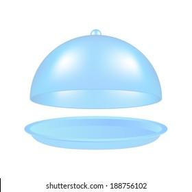 Open light blue cloche