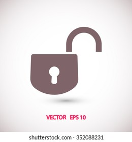 open lock icon. One of set web icons