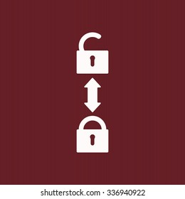 Open lock. icon. vector design