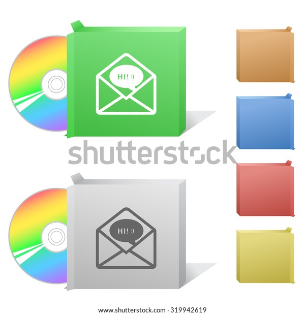 open mail with chat. Box with compact disc.