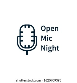 Open mic night pister. Clipart image isolated on white background