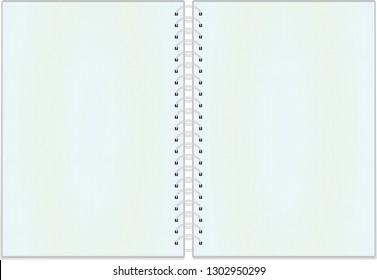 Open notebook. vector illustration