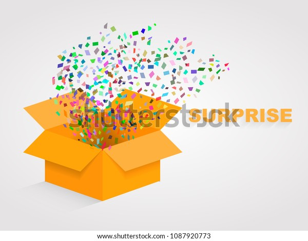 elegant shoes coupon codes dirt cheap Open Orange Box Confetti Surprise Concept Stock Vector ...