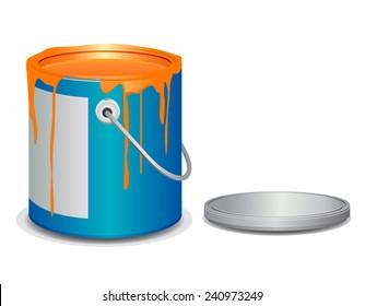 Open paint bucket vector