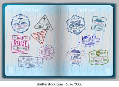 Open passport for foreign traveling