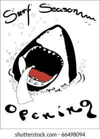 Open season for surfing - a project of printing on t-shirts