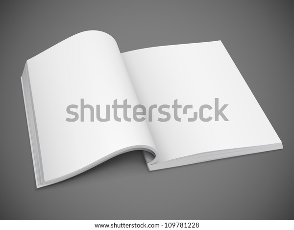 Open Spread Book Blank White Pages Stock Vector (Royalty Free) 109781228