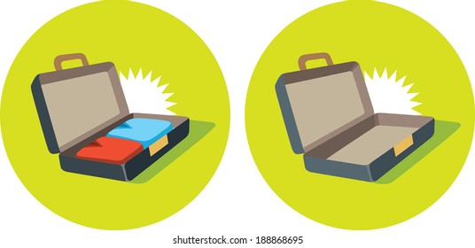 Open suitcase icon