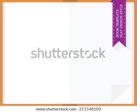 open textbook template flat design style stock vector royalty free