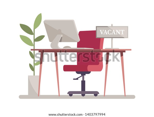 Amazing Open Vacancy Flat Vector Illustration Vacant Stock Vector Ncnpc Chair Design For Home Ncnpcorg