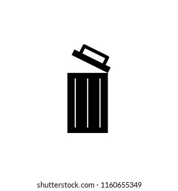 open wastebasket icon. Element of simple icon. Premium quality graphic design icon. Signs and symbols collection icon for websites, web design, mobile app