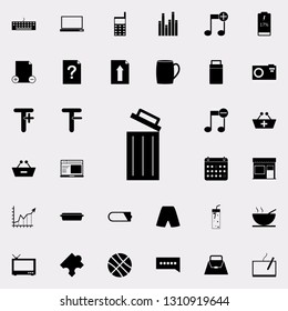 open wastebasket icon. web icons universal set for web and mobile on white background