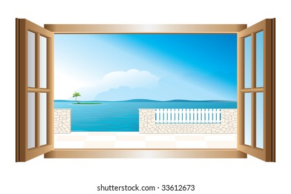 Ventana Abierta Paisaje Ilustraciones Imágenes Y Vectores De Stock Shutterstock
