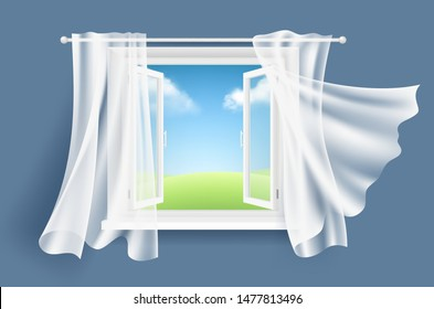 Cartoon Window Curtain Images Stock Photos Vectors Shutterstock